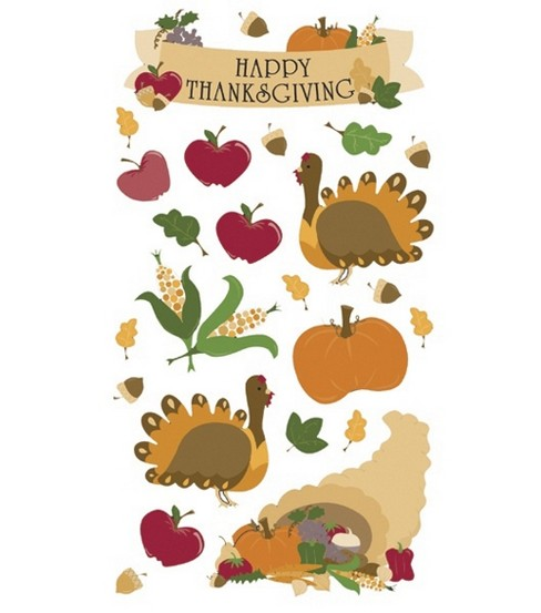 Sticko Seasonal Classic Stickers-Thanksgiving