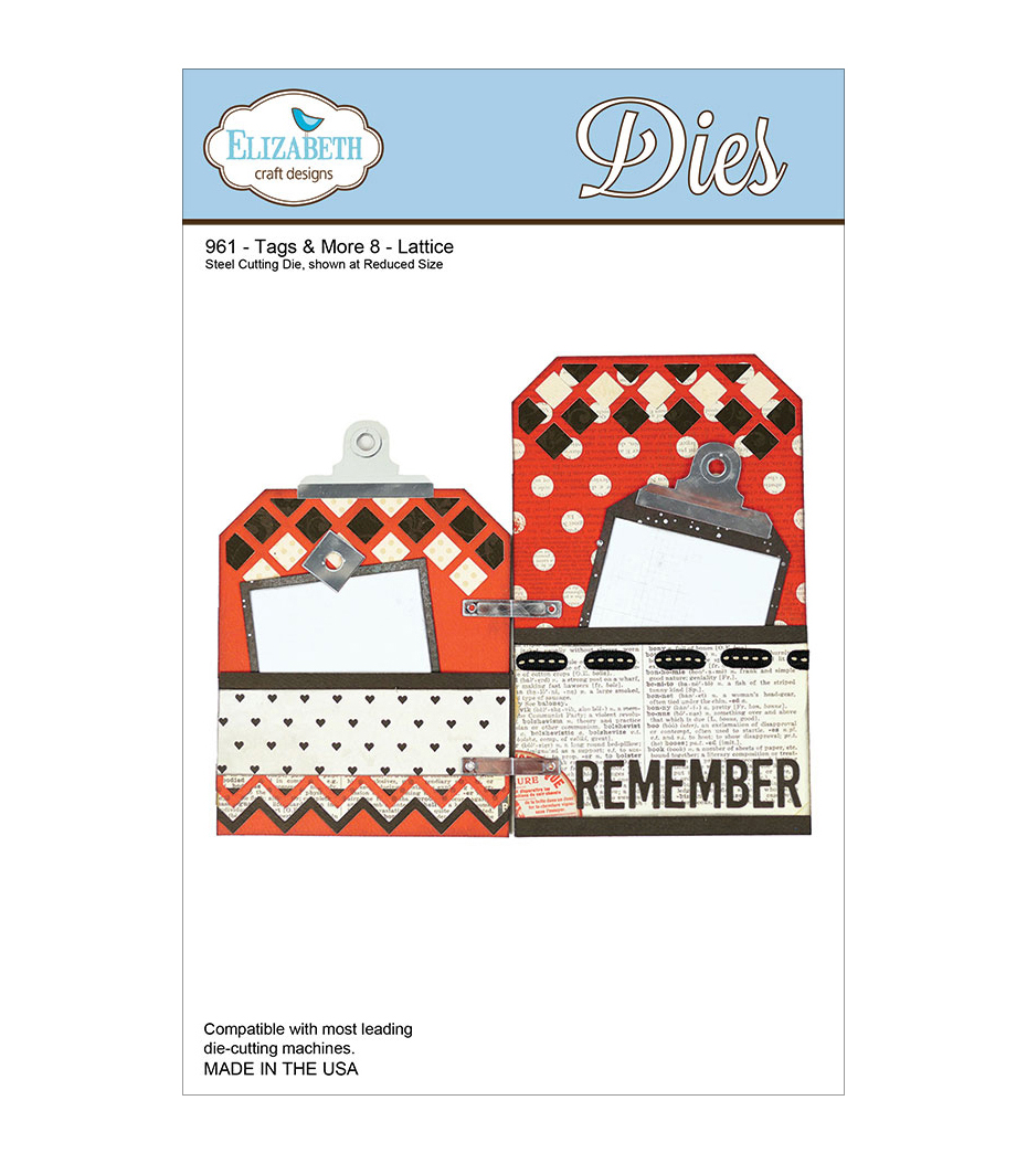 Elizabeth Craft Designs Metal Tags & More Tag 8 Lattice Dies