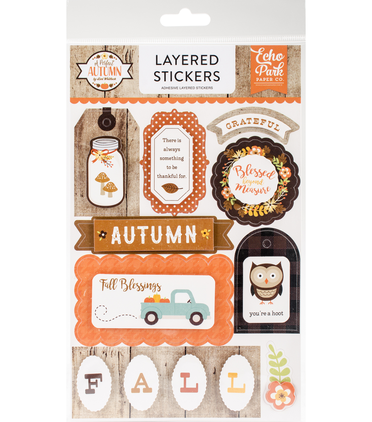 A Perfect Autumn Layered Stickers