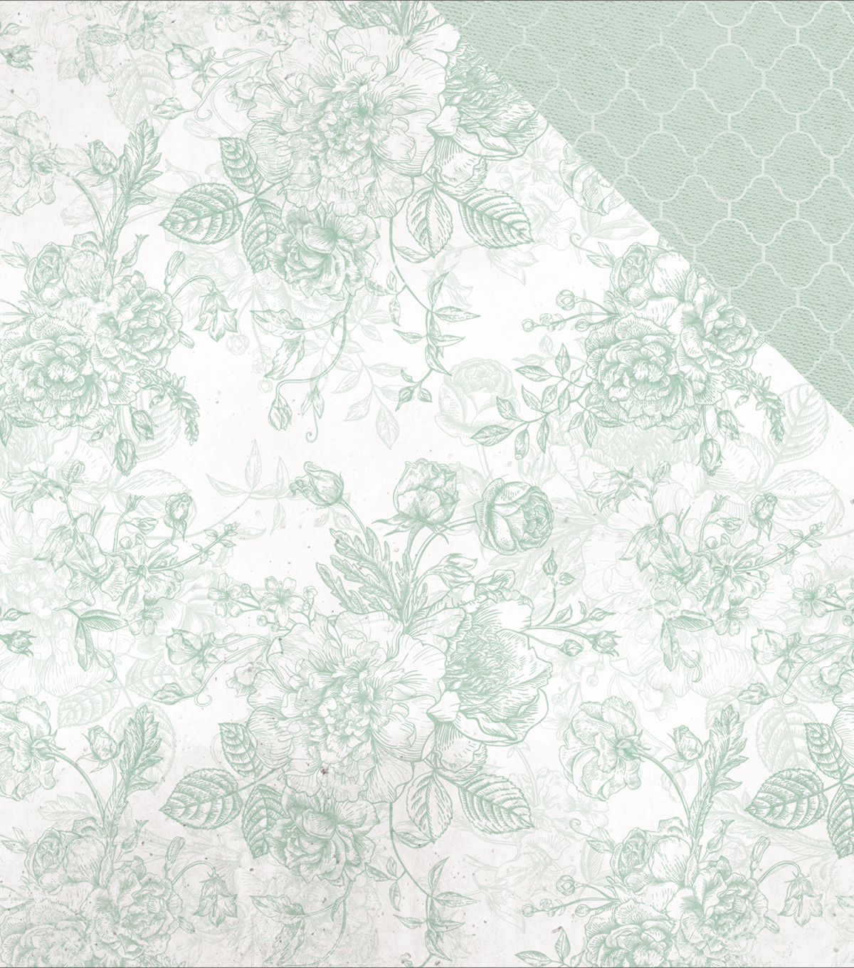 "Sage & Grace Double-Sided Cardstock 12""X12""-Mint"