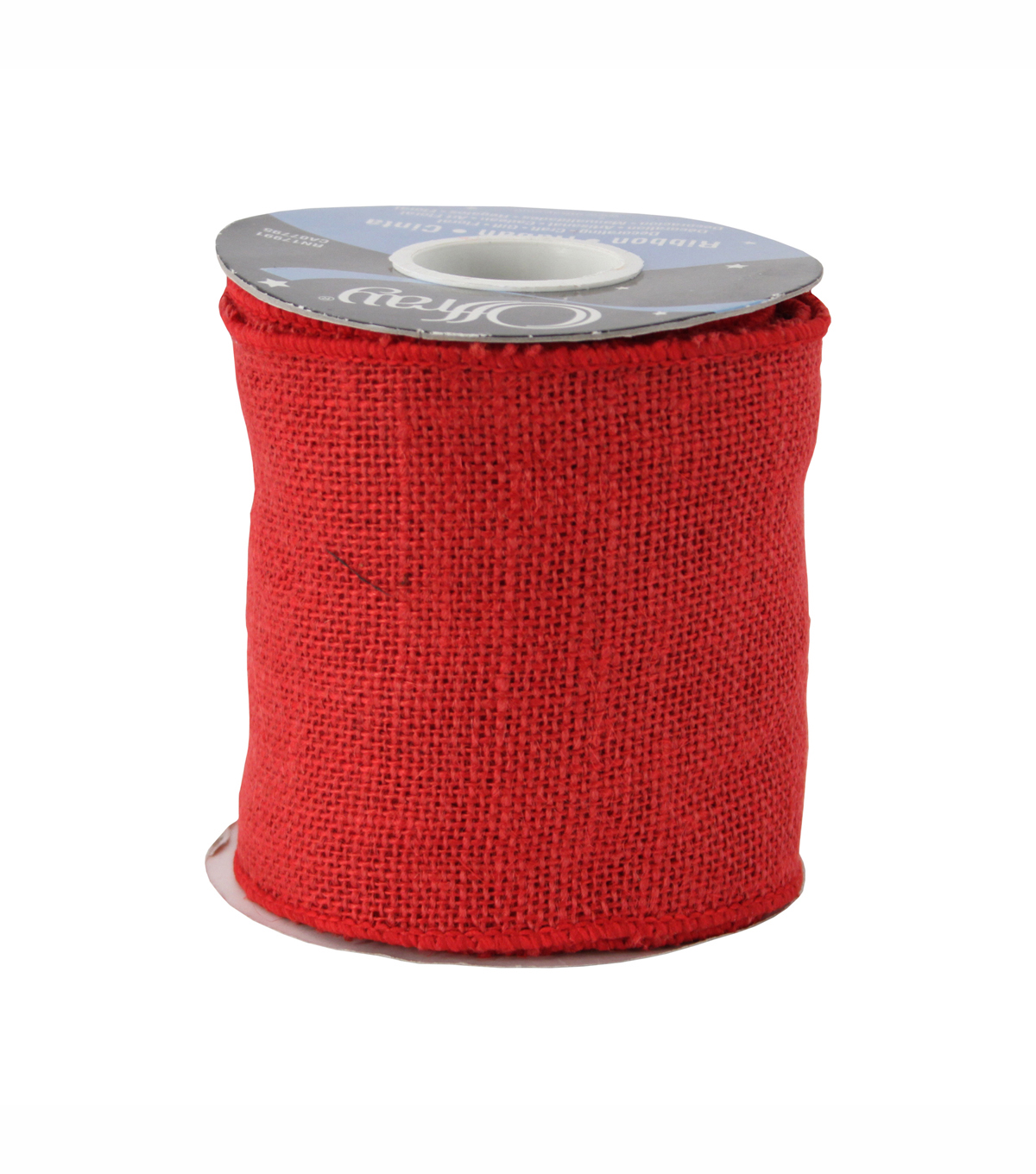 Offray 4in Red Burlap Ribbon