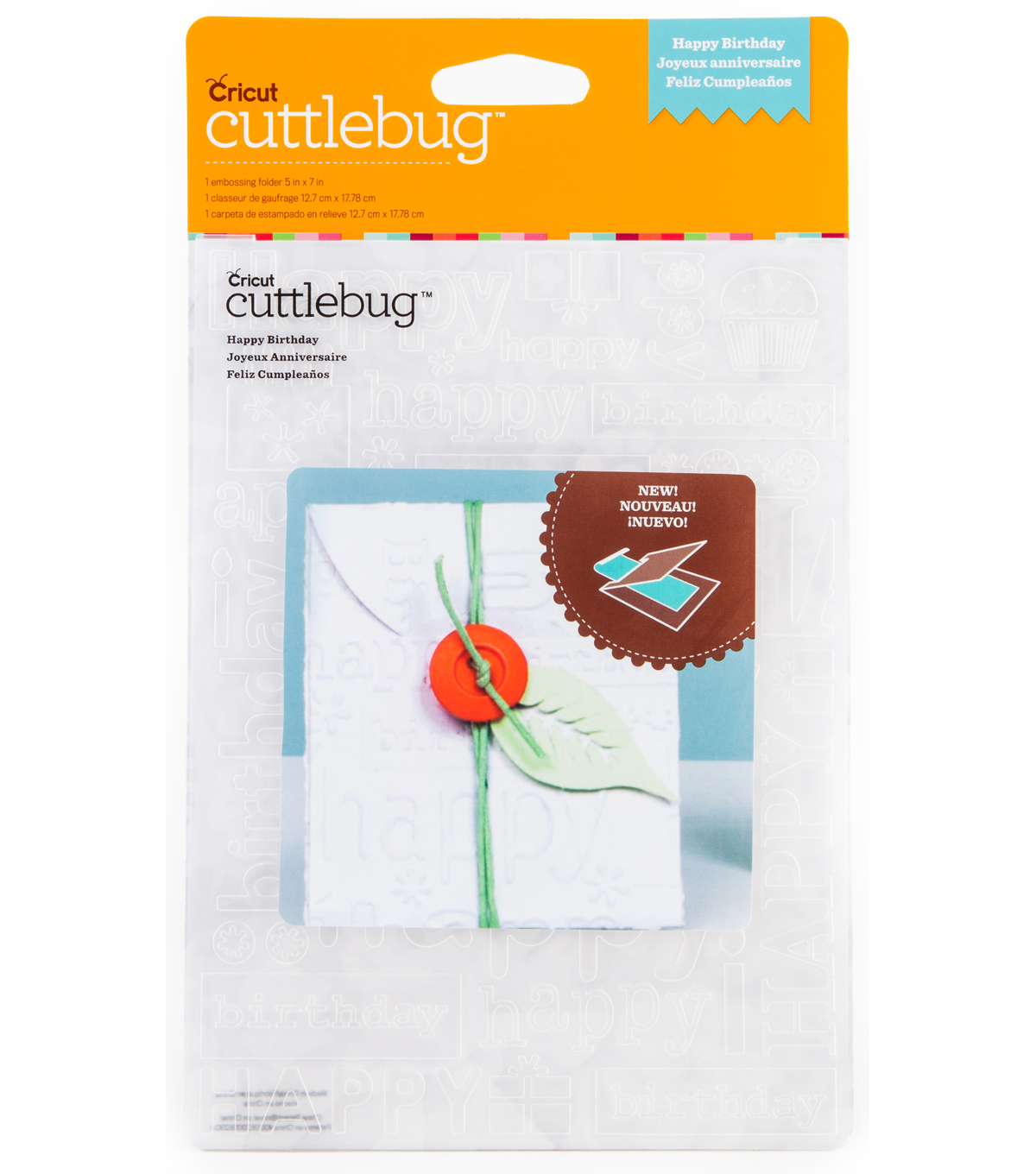 Cuttlebug Emboss 5x7 Happy Birthday
