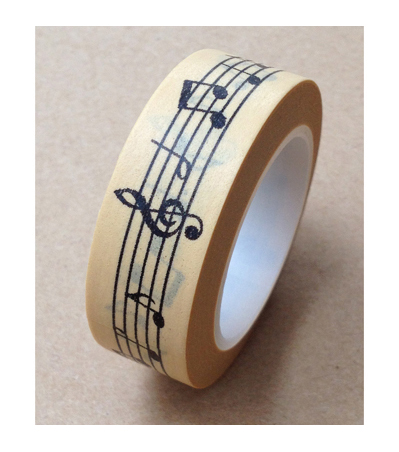 Love My Tapes Washi Tape 0.5\u0027\u0027x10 yds-Music Notes