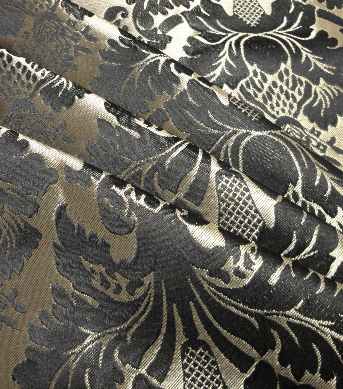 Yaya Han Cosplay Thrones Brocade Fabric 59\u0027\u0027-Black & Gold