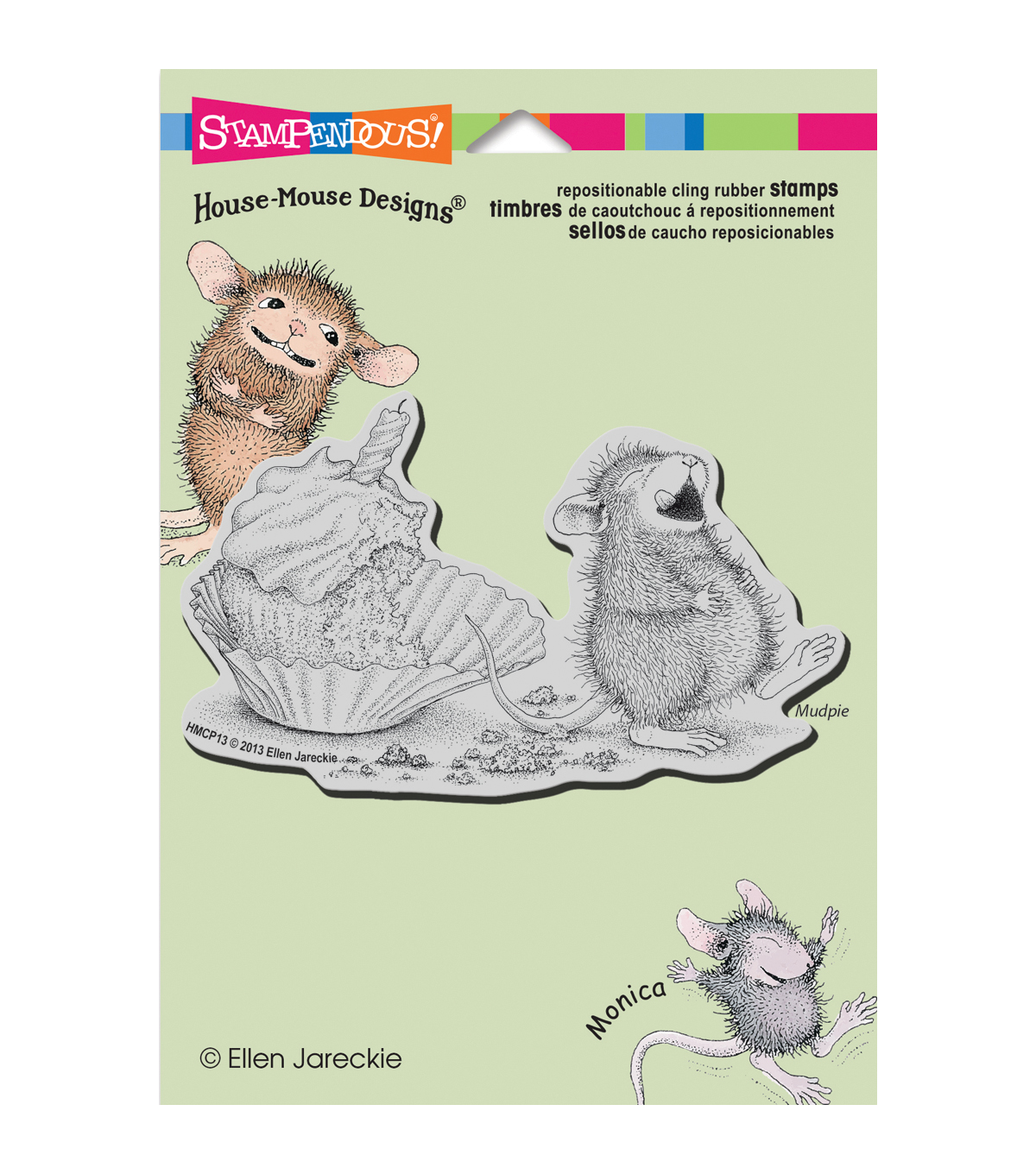 Stampendous House Mouse Cling Rubber Stamp 5.5\u0022X4.5\u0022 Sheet-Cupcake Belly