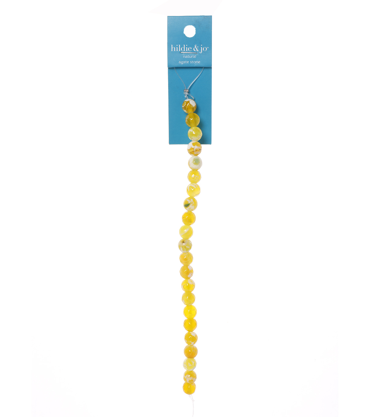 Blue Moon Beads 7\u0022 Strand Semi-Precious 8mm Yellow Agate