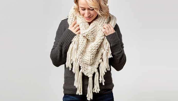 Knit: Triangle Scarf