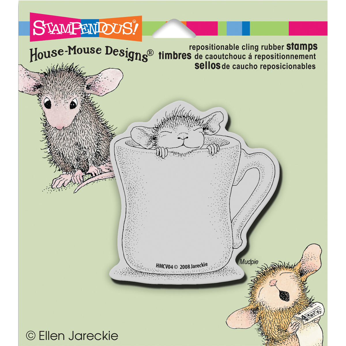 Stampendous House Mouse Cling Stamp Warm Cup