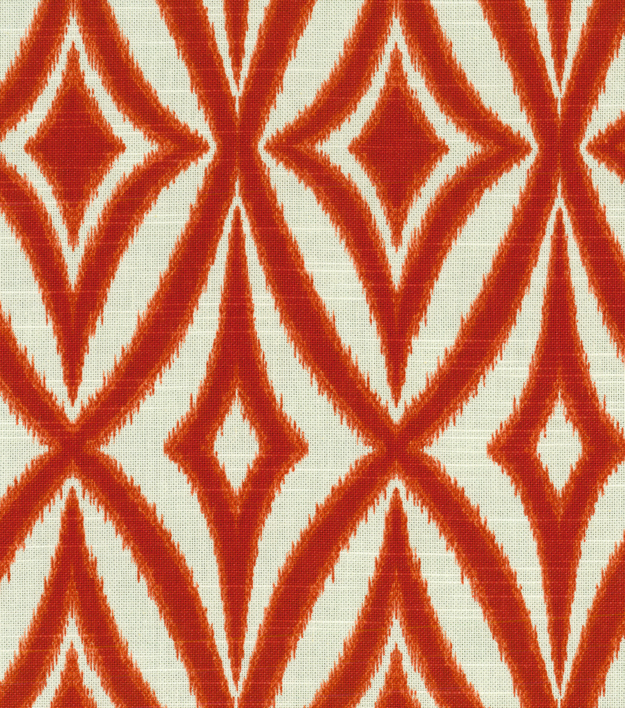 Waverly Print Fabric-Centro/Campari