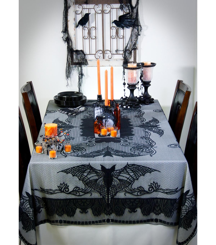 Maker\u0027s Halloween 60\u0027\u0027x84\u0027\u0027 Lace Tablecloth