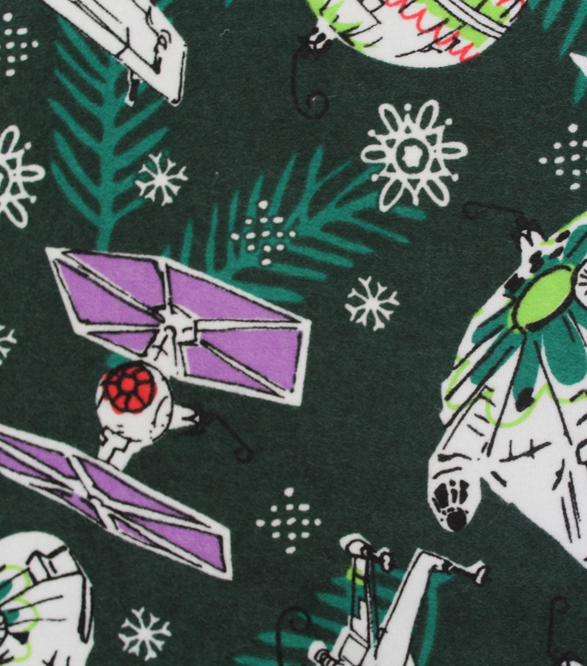 Star Wars™ Christmas Flannel Fabric 42''-Space Ships