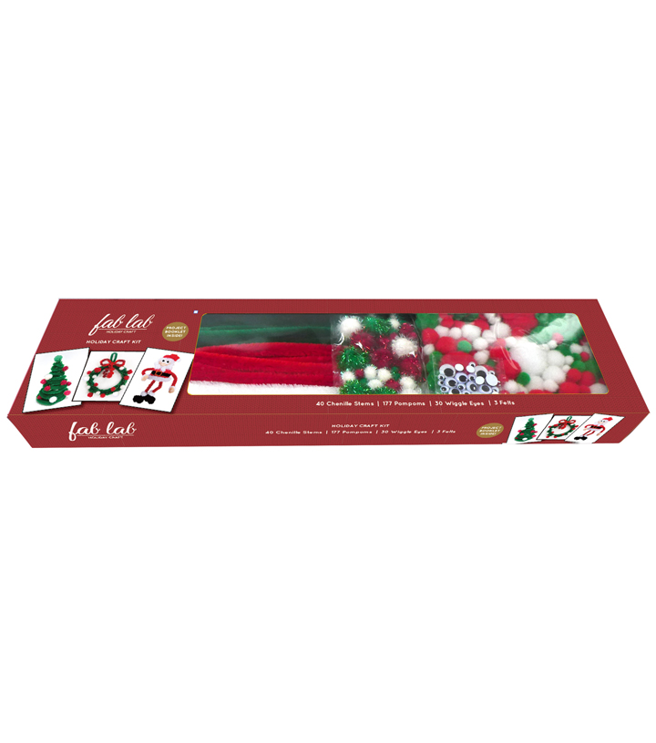Fab Lab™ Holiday Craft Kit-Holiday Colors