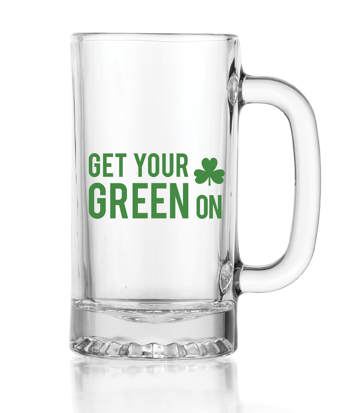 St. Patrick\u0027s Day Get Your Green On Glass