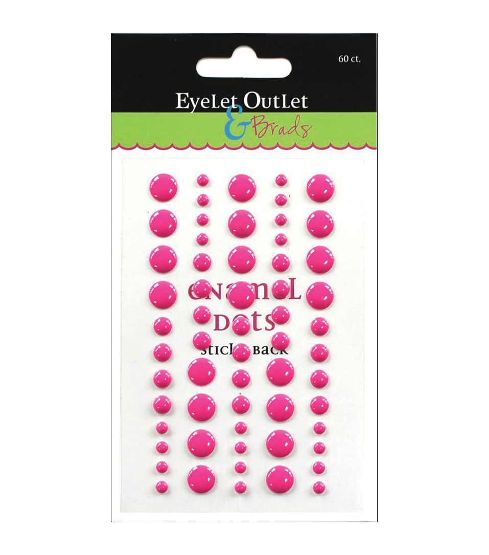 Eyelet Outlet Sticky Back Enamel Dots 60 pcs