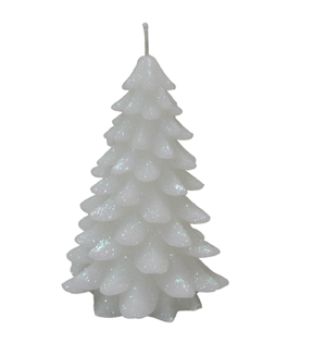 Maker\u0027s Holiday Small Christmas Tree Candle-White