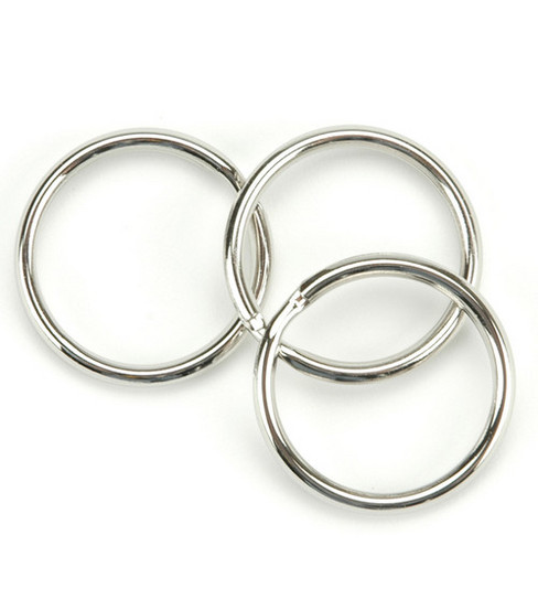 Nickel Split Key Rings-1.25\u0022 10/Pkg