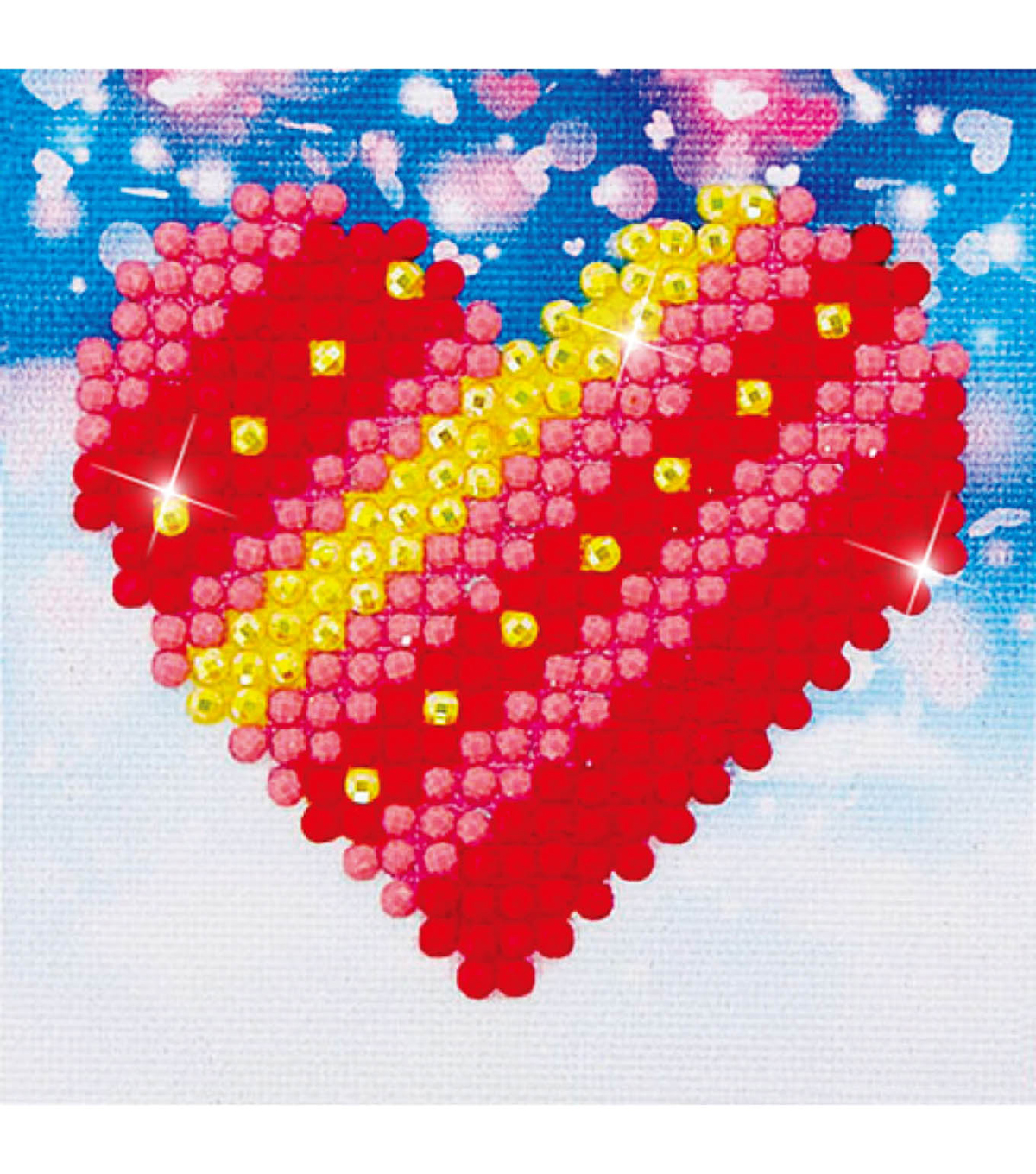 Diamond Embroidery Facet Art Kit 4.7\u0022X4.7\u0022-Patchwork Heart
