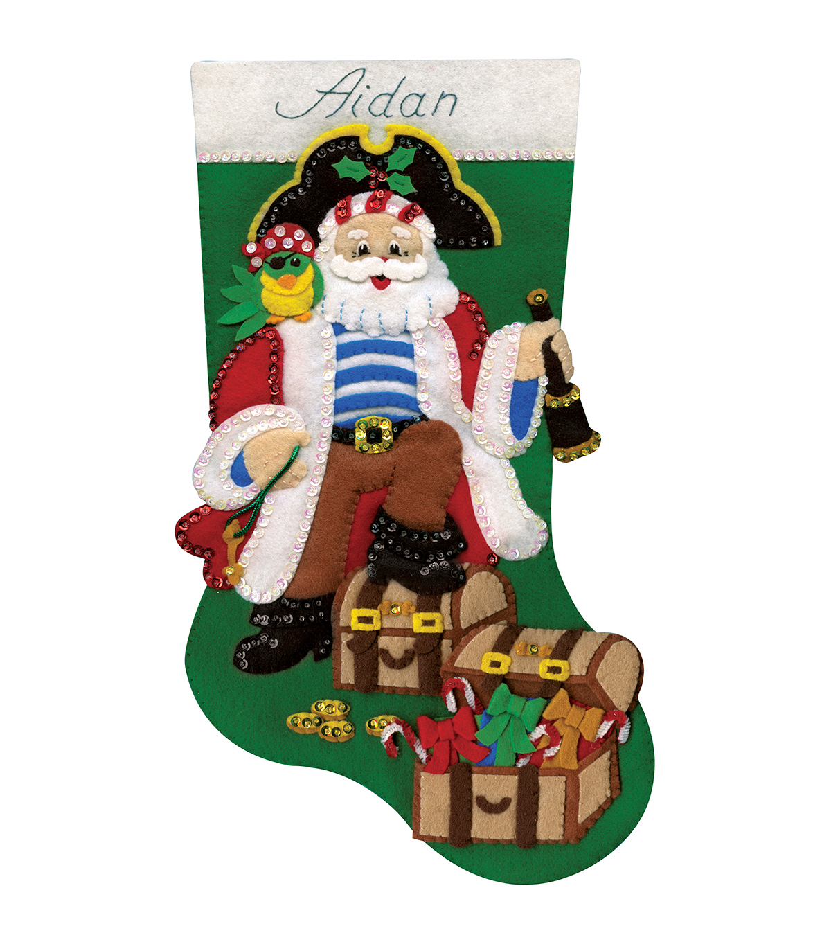 Design Works Pirate Stocking Felt Applique Kit