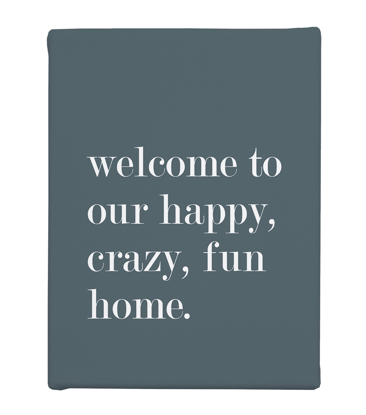 Wild Blooms 8\u0027\u0027x10\u0027\u0027 Canvas Wall Decor-Welcome To Our Home