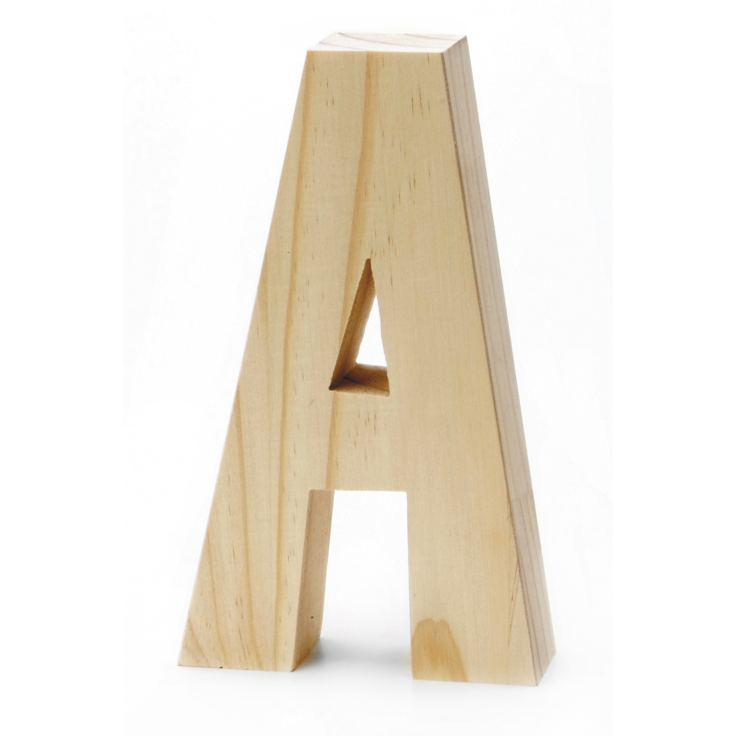 Chunky Wood Letter 8 X 5 In