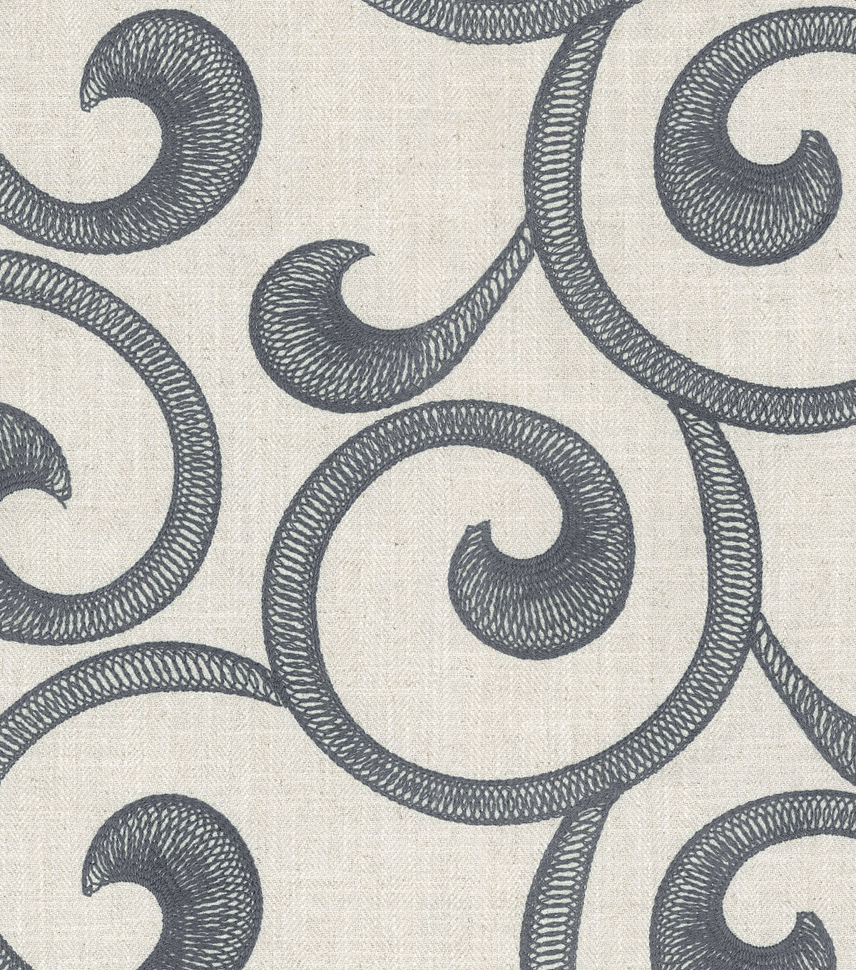"Williamsburg Upholstery Fabric 54""-Hampton Scroll/Smoke"