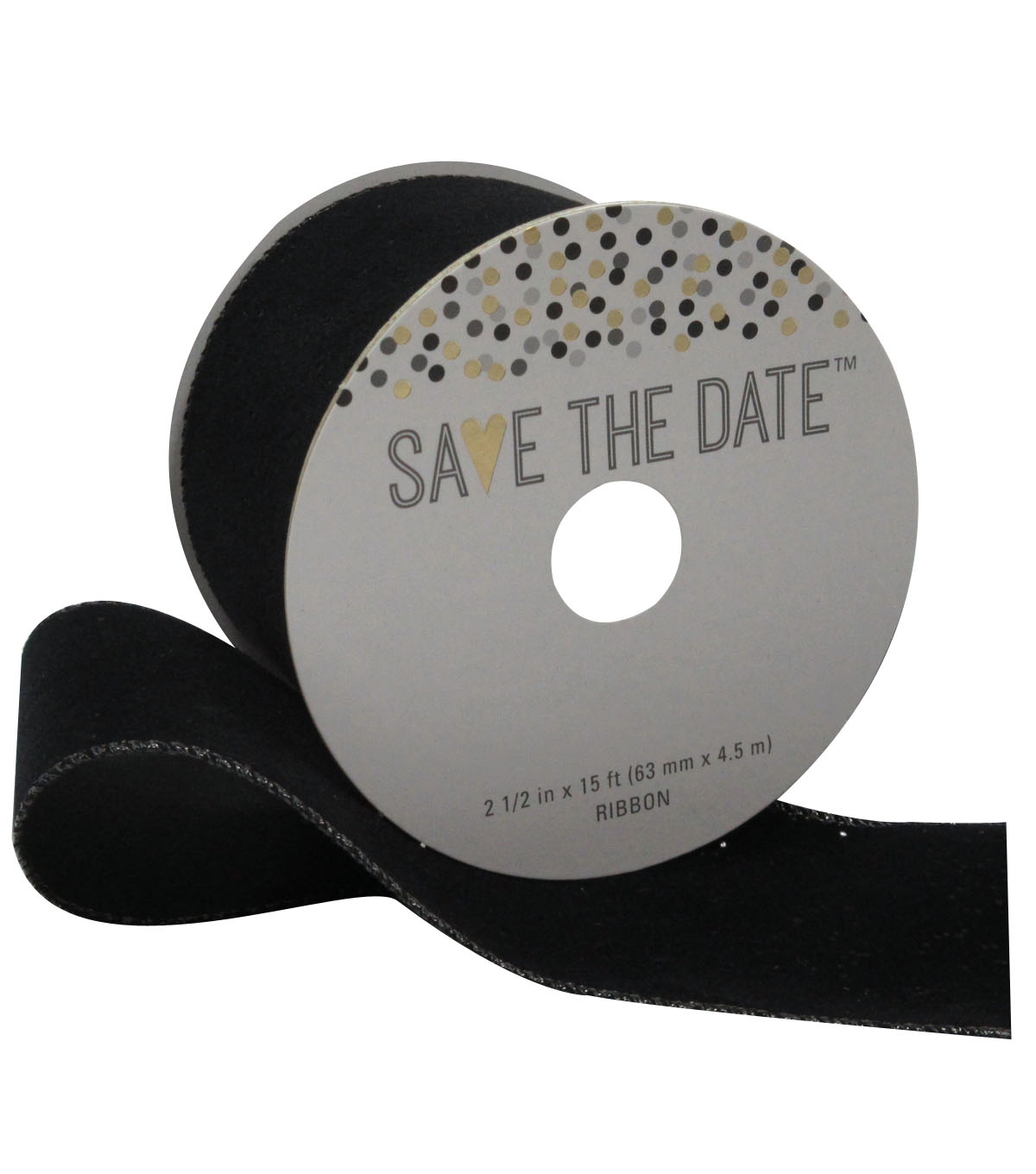 Save the Date 2.5\u0027\u0027 X 15\u0027 Ribbon-Black Velvet