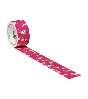 Printed Duck Tape® Br& Duct Tape 1.88 in. x 10 yd.-Unicorn