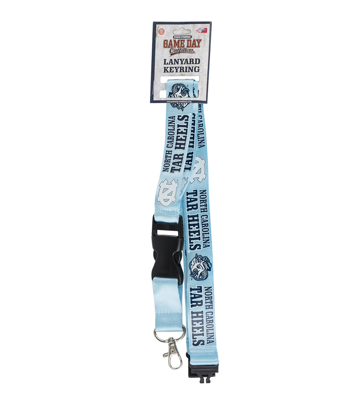 University of North Carolina Tarheels Lanyard Keychain