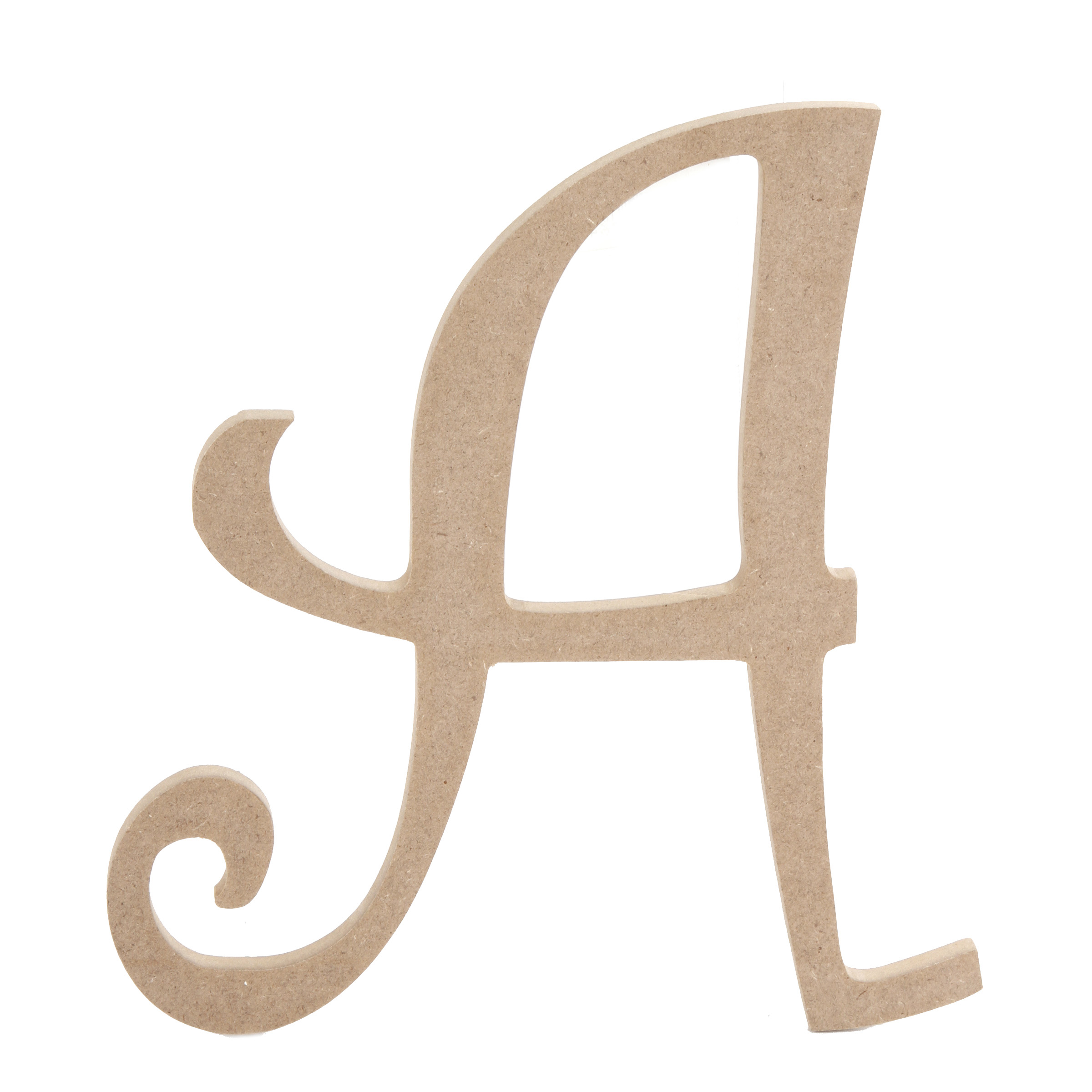 8 inch Fancy Script Wood Letters