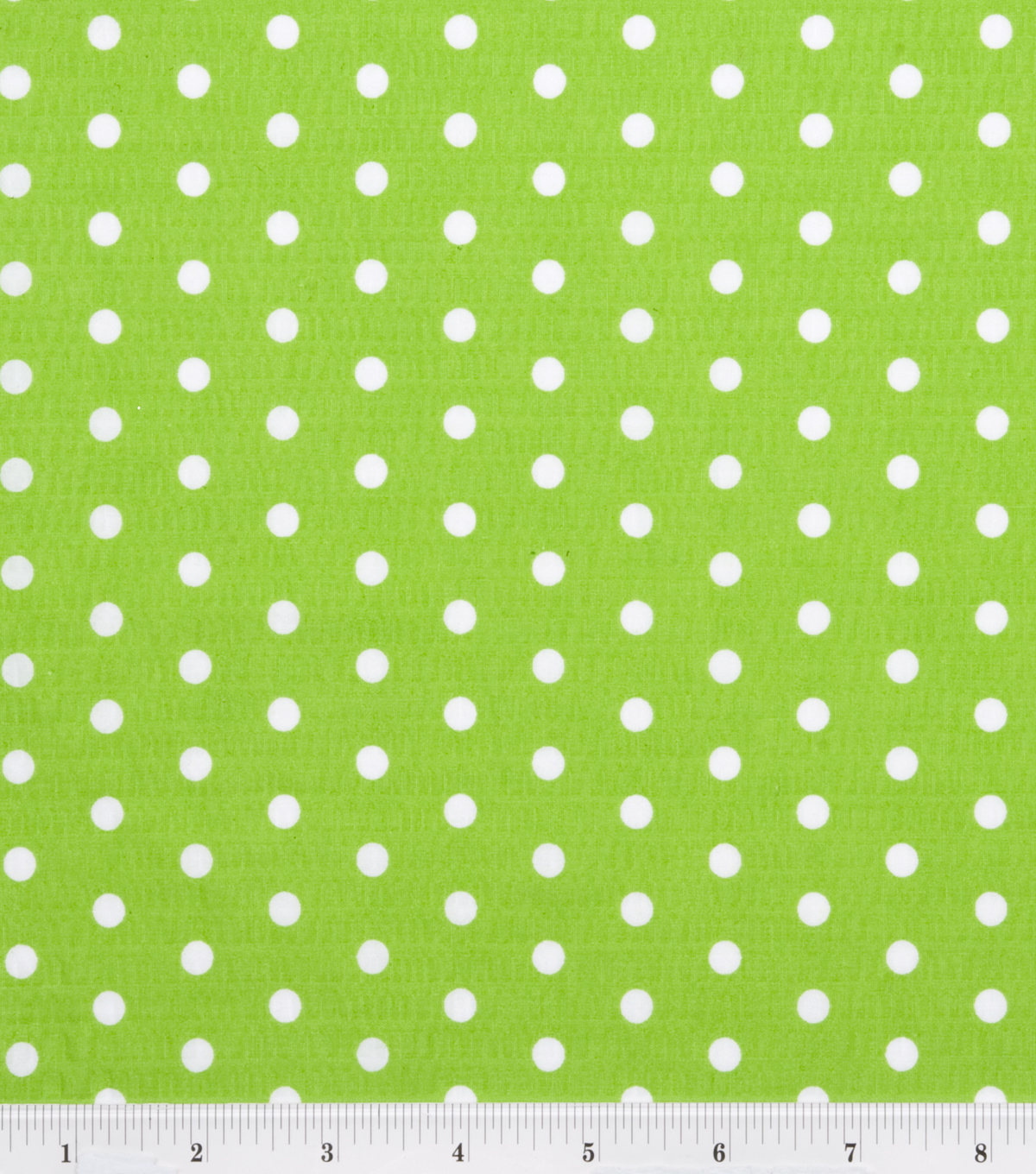 Tutti Fruitti Fabric 44\u0022-Polka Dot Lime and White