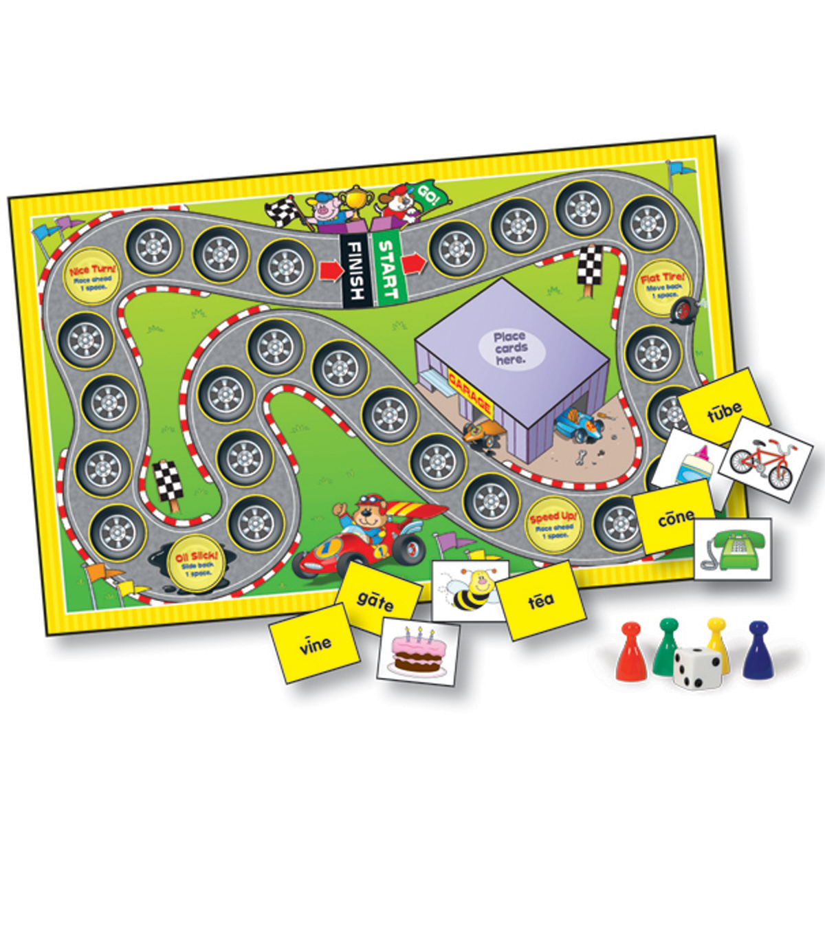Language Arts Learning Games Board Game- Grade 1