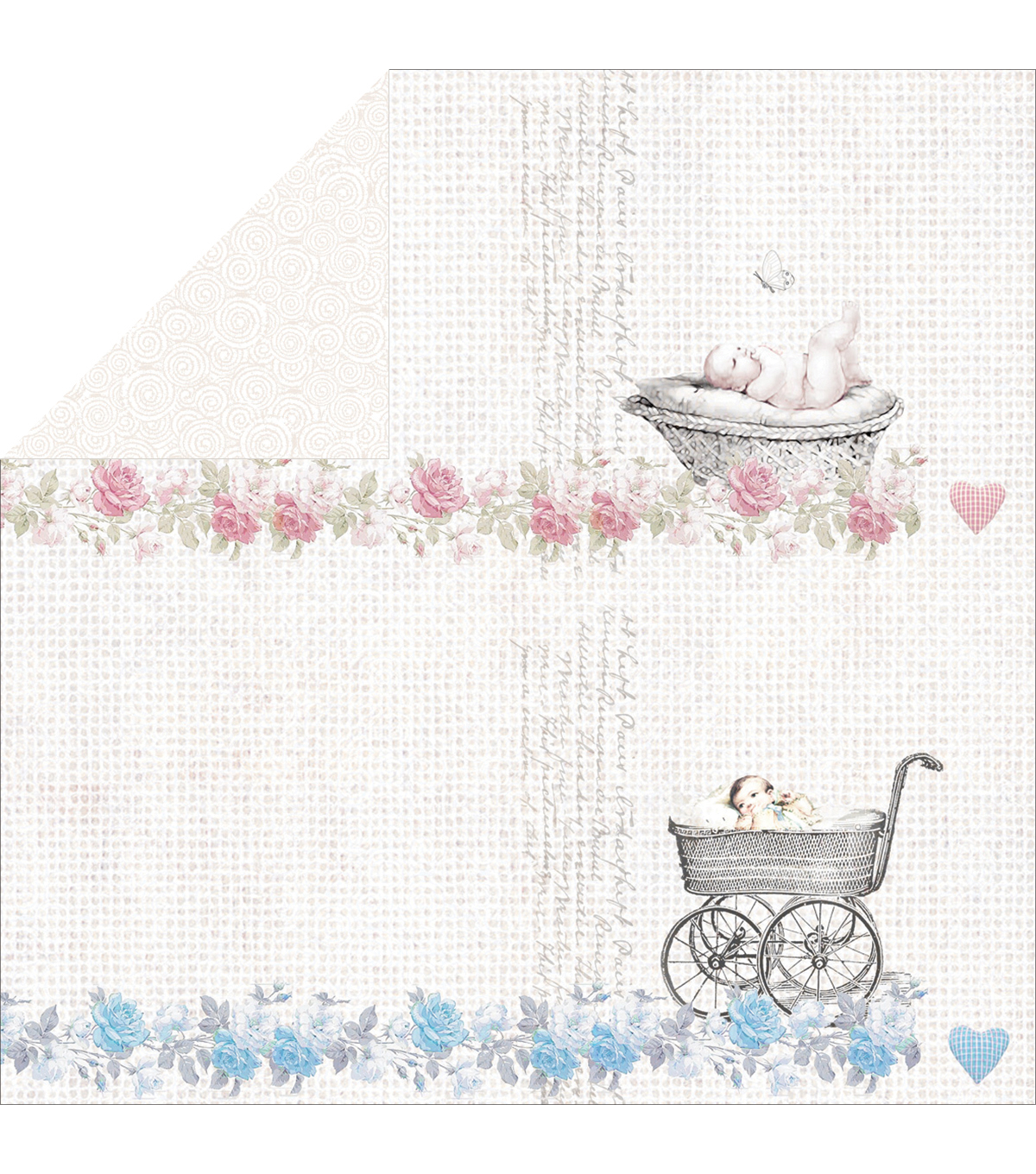 "Royal Baby Double-Sided Cardstock 12""X12""-Swirl"