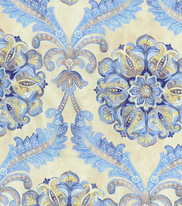 Waverly Upholstery Fabric 54\u0022-Over The Moon/Lapis