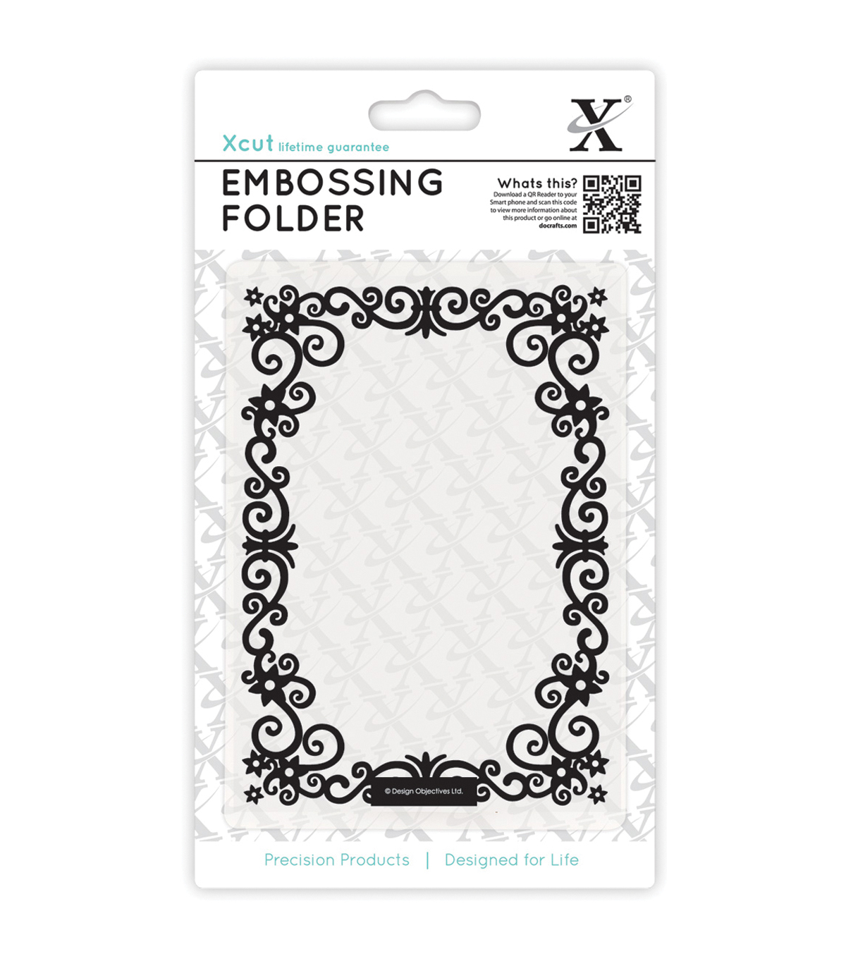 Xcut Universal A6 Floral Frame Embossing Folder