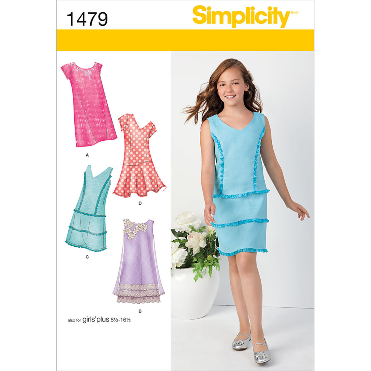 Simplicity Pattern 1479BB 8 1/2 - 16-Girl Boy Dresses