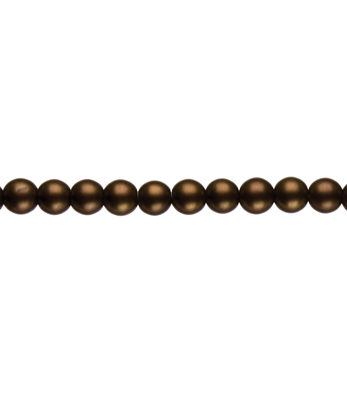 Cousin Jewelry Basics 8mm Round Matte Beads 80/Pkg-Brown