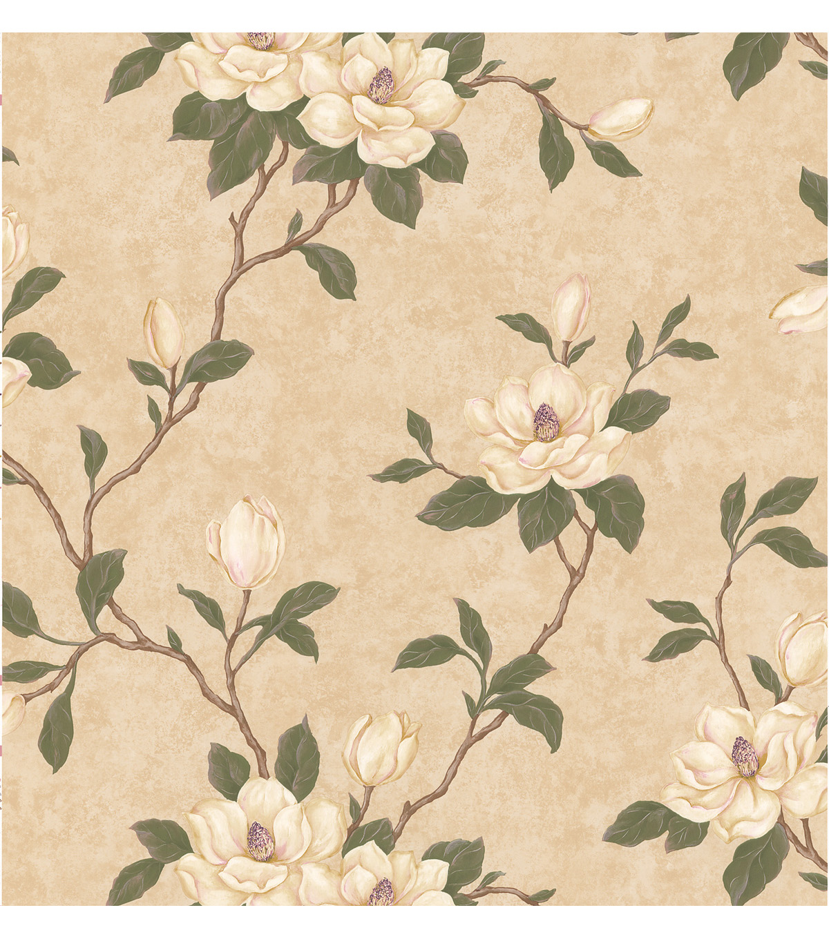 Lilith Beige Floral Branch Wallpaper