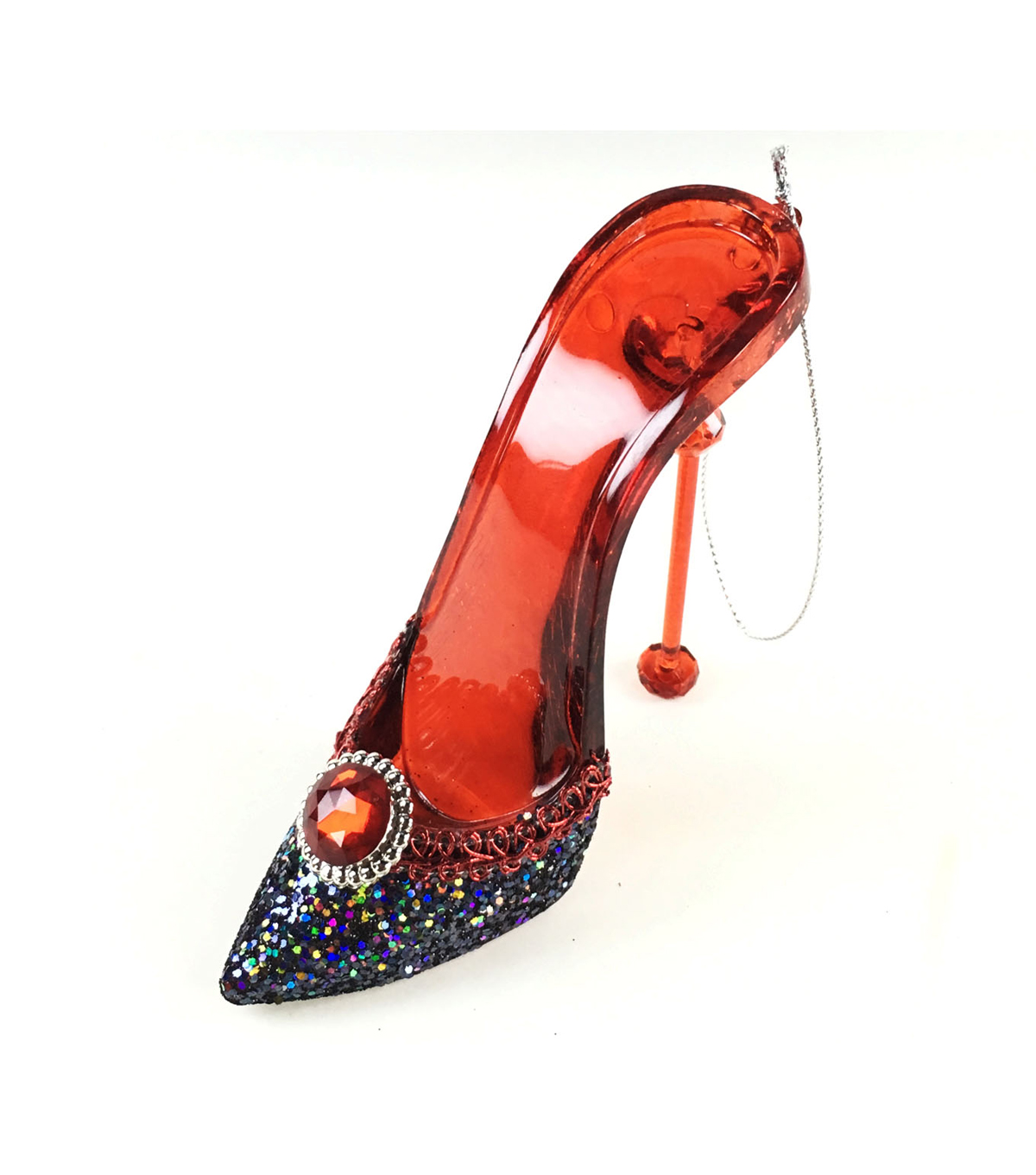 Maker\u0027s Holiday High Heel Ornament-Red