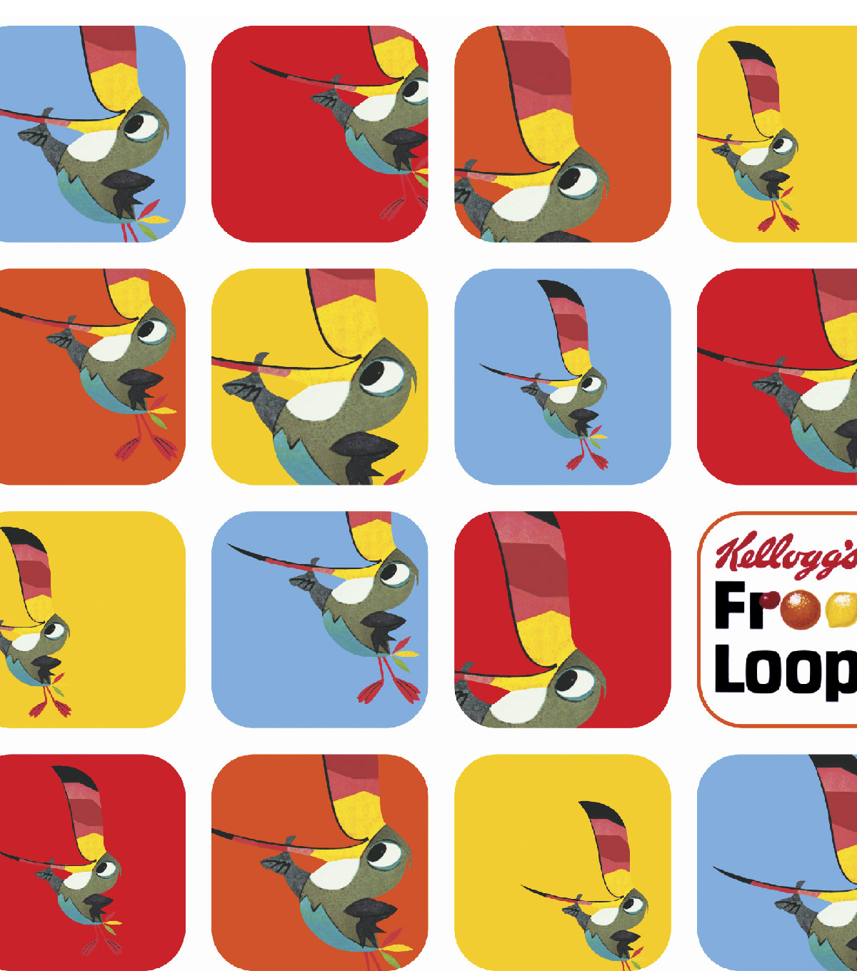 Kelloggs® Flannel Fabric 42\u0027\u0027-Retro Froot Loops Patch