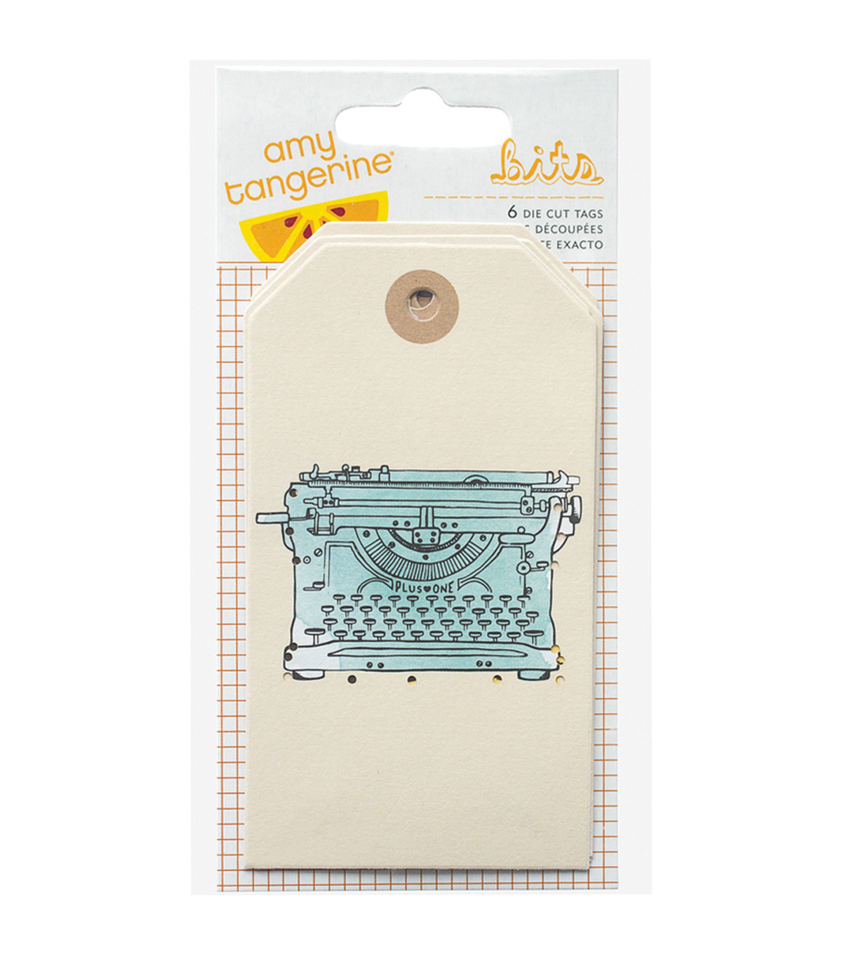 American Crafts Amy Tangerine Plus One Bits Cardstock Die-Cut Tags