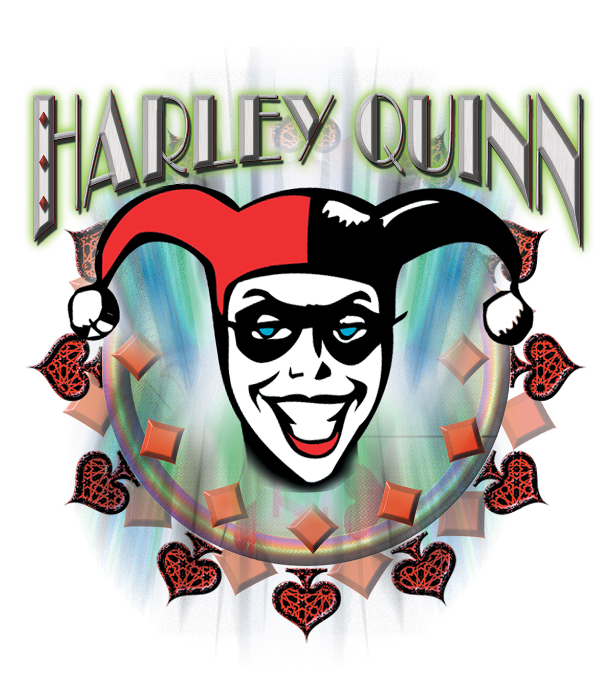 DC Comics Small Transfer Harley Quinn Face