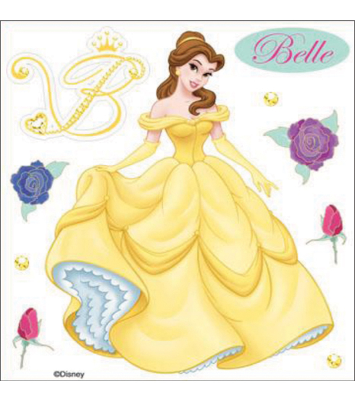 EK Success Disney Dimensional Sticker-Belle