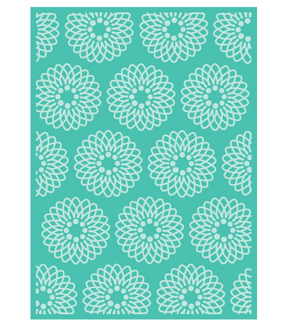 Cricut Cuttlebug Anna Griffin Flower Grid 5x7 Embossing Folder