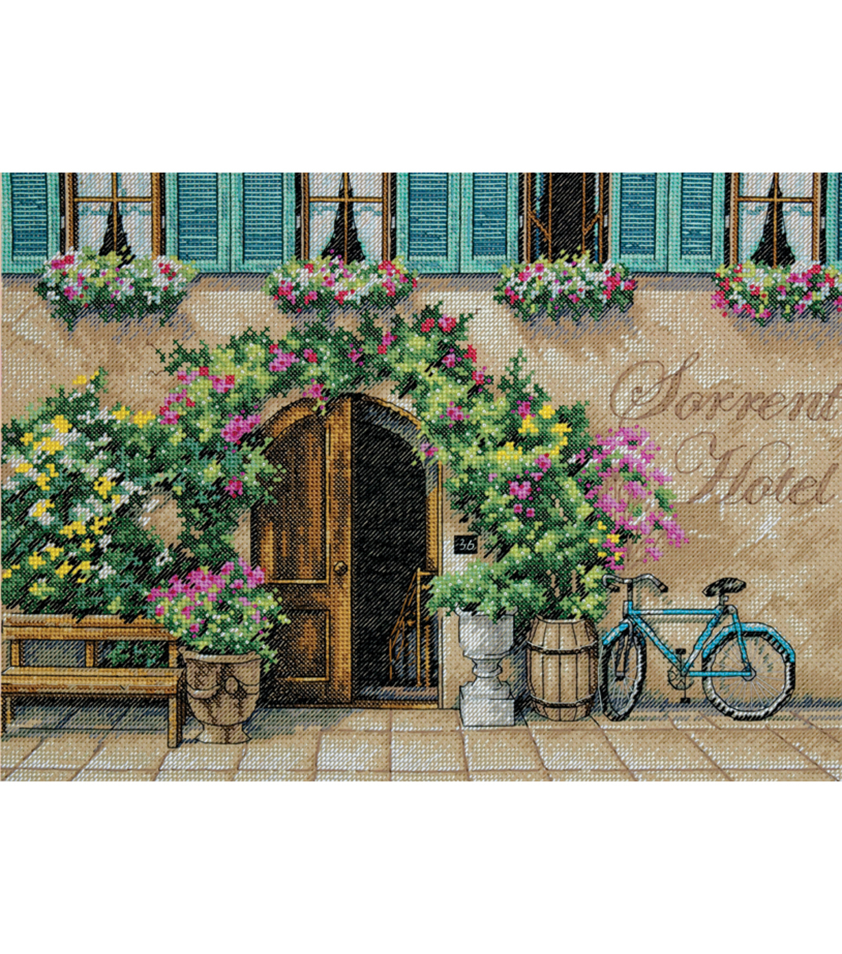 "Dimensions Sorrento Hotel Counted Cross Stitch Kit-14""X10"" 14 Count"