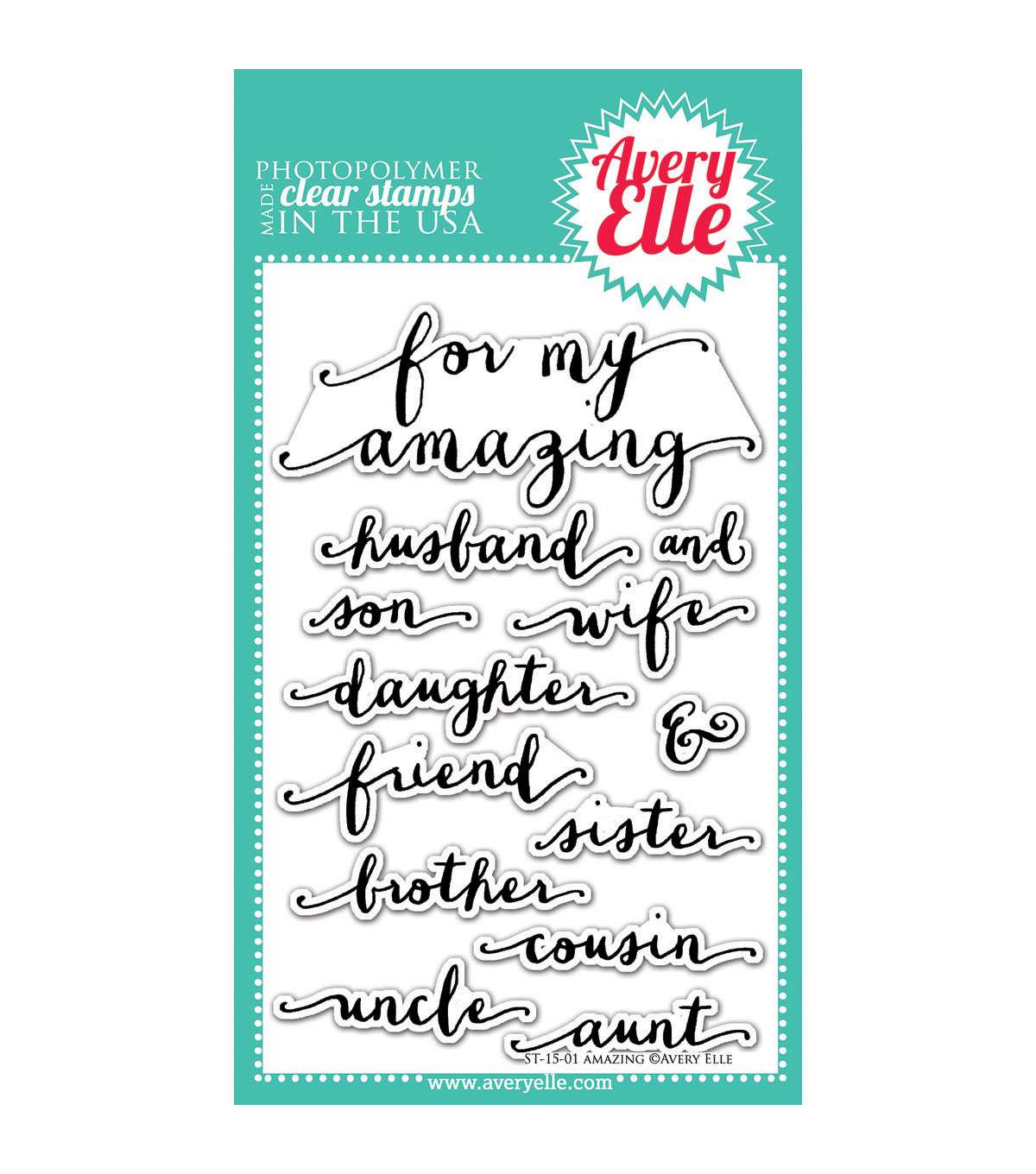 Avery Elle Amazing Clear Stamp Set 4\u0027\u0027x6\u0027\u0027