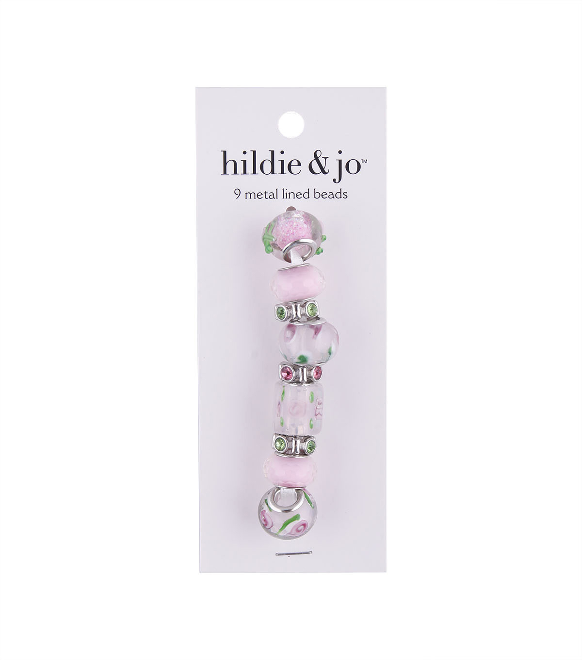 hildie & jo™ Mix & Mingle Metal Lined Glass Beads-Light Pink