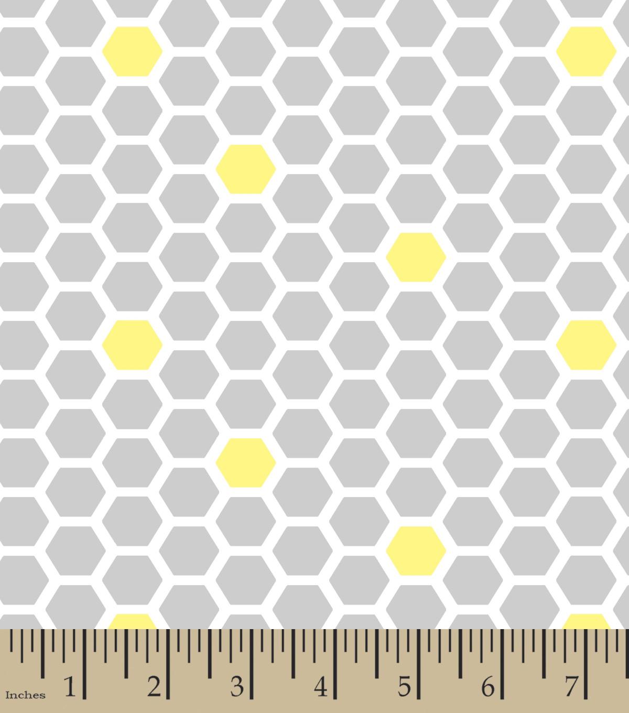 flannel nursery fabric bumble bee honeycomb print 42 u0027 u0027 joann