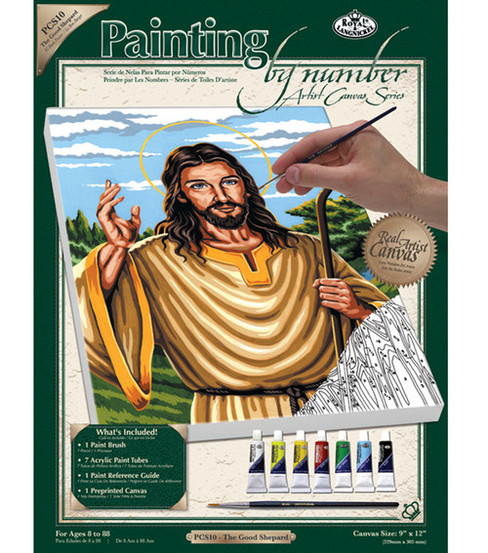 Royal Langnickel Paint By Number Kits The Good Shepherd