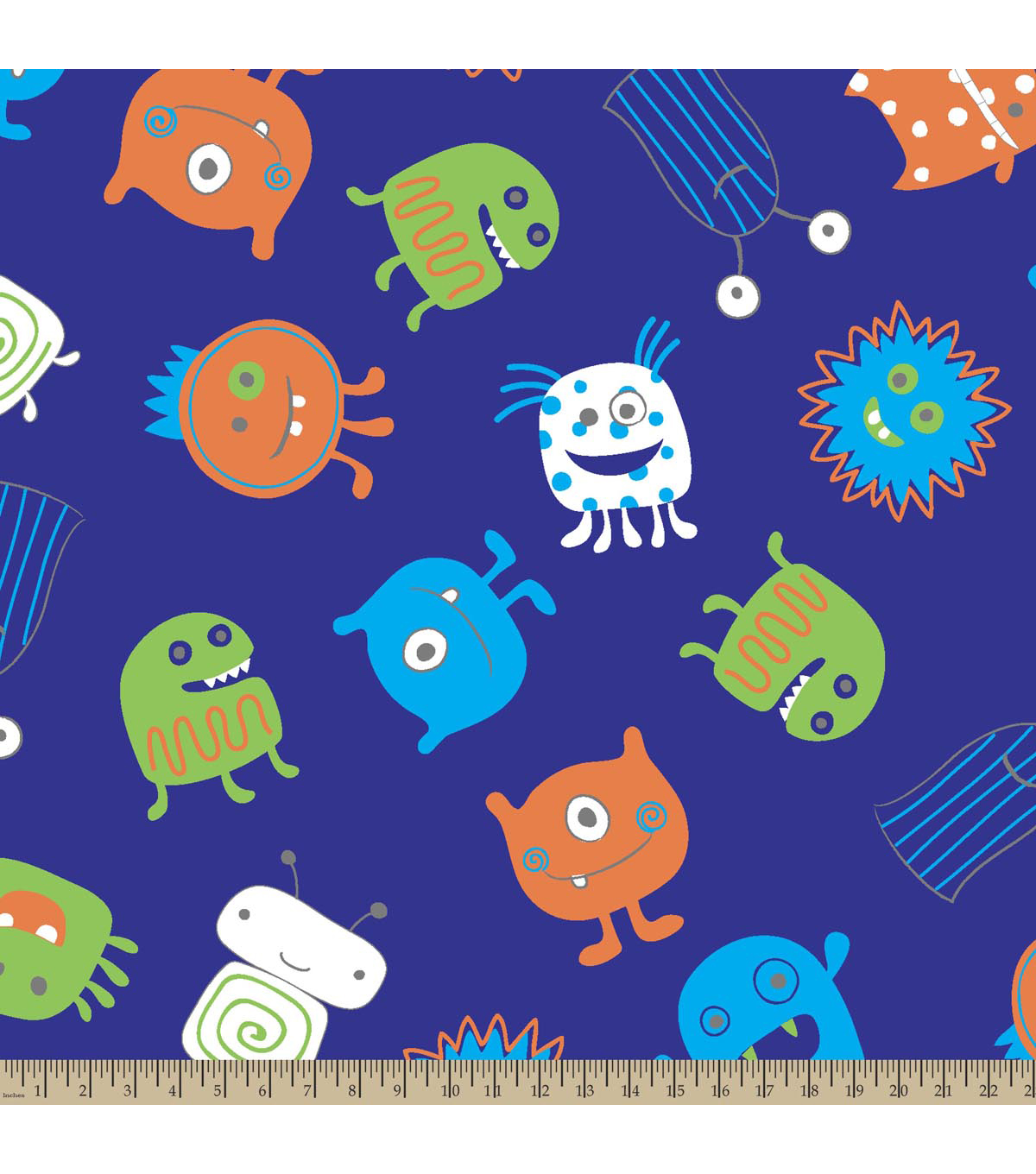 Blizzard Fleece Fabric-Monsters