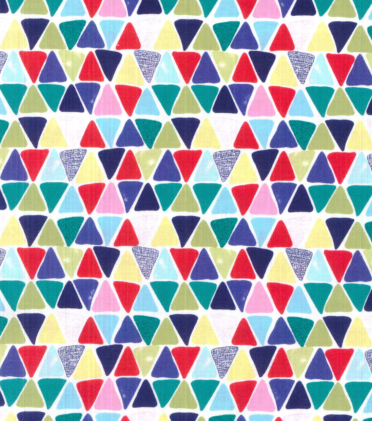 Koko Lee™ Cotton Fabric-Up And Down Triangles
